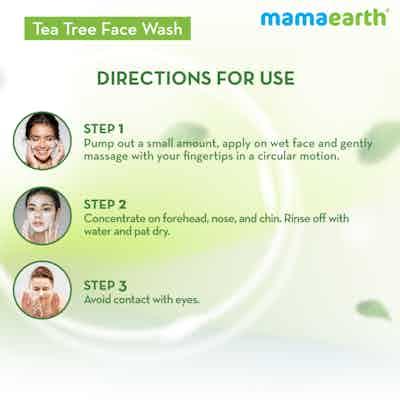 how to use mamaearth tea tree face wash