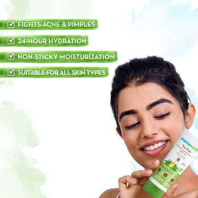 tea tree oil free face moisturizer for pimples and acne