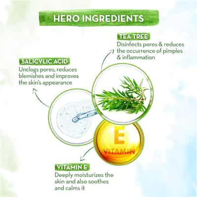 tea tree oil free face moisturizer with salicylic acid and vitamin e