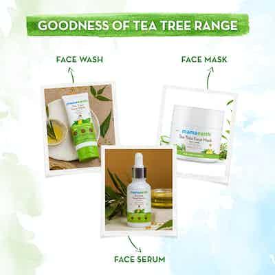 mamaearth tea tree range