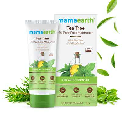 mamaearth tea tree oil-free face moisturize