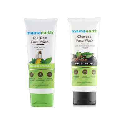 Mamaearth Tea Tree Face Wash and Charcoal Face Wash Combo