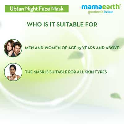 mamaearth ubtan night face mask for men and women