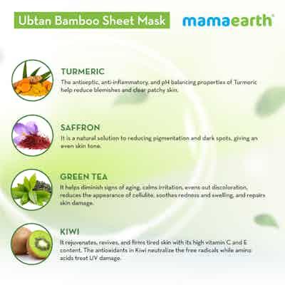 Ubtan Bamboo Sheet Mask ingredients