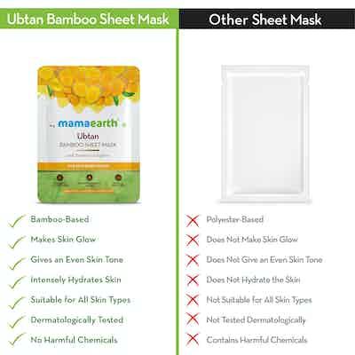 mamaearth Ubtan Bamboo Sheet Mask