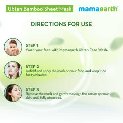 how to use Ubtan Bamboo Sheet Mask