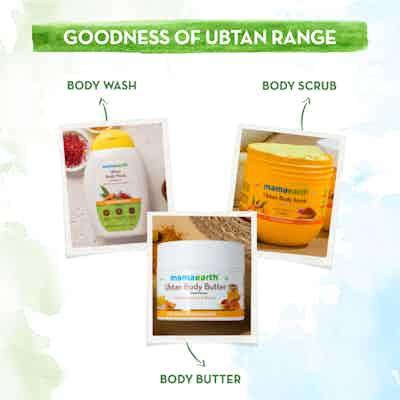 Ubtan Body Butter range mamaearth