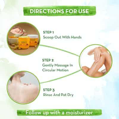 Ubtan Body Scrub with Turmeric and Saffron  how to use