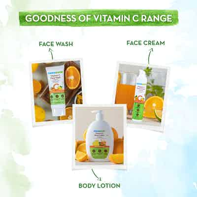 The goodness of Mamaearth Vitamin c Range