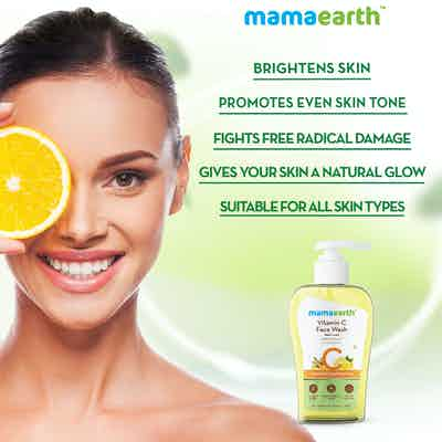 Vitamin C Face Wash fights free radical damage