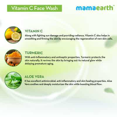 mamaearth Vitamin C Face Wash with aloe vera and Turmeric