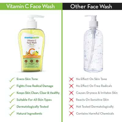 vitamin c face wash better than other in the market