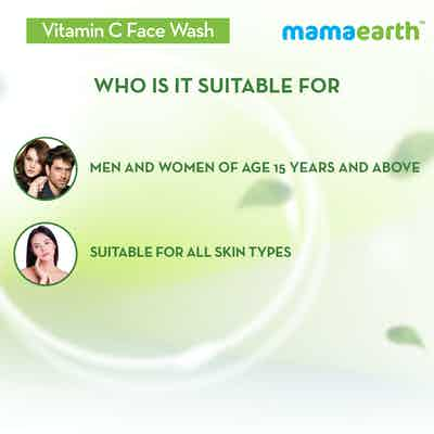Vitamin C Face Wash is suitable for all skin types