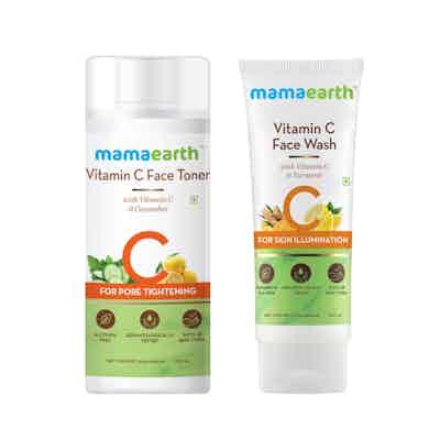 mamaearth Vitamin C Glowing Skin Combo