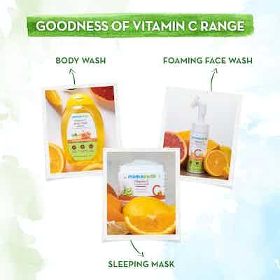 Goodness of vitamin c range of Mamaearth