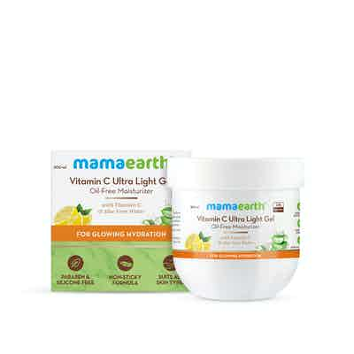 Vitamin C Ultra Light Gel Oil-Free Moisturizer with Vitamin C and Aloe Vera Water for Glowing Hydration - 200 ml