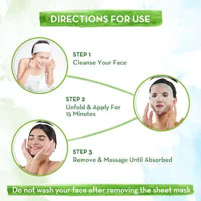 How To Use Mamaearth Vitamin C Bamboo Sheet Mask