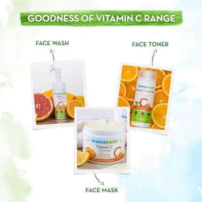 goodness fo vitamin c range of mamaearth