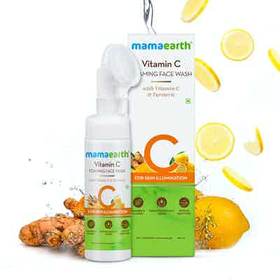 mamaearth Vitamin C Foaming Face Wash with Vitamin C and Turmeric for Skin Illumination – 150ml
